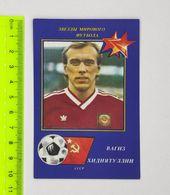 USSR Football Calendar Vagiz Khidiyatullin 1990 - Apparel, Souvenirs & Other