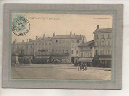 CPA -(01) PONT-de-VAUX -Aspect Des Cafés Des Négociants, Parisien Et Du Commerce De La Place Joubert - 1905 - Pont-de-Vaux