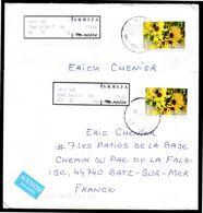 SERBIE SRBIJA 2 Enveloppe Cover Oblitération 2017 Timbres Fleur Flower - Serbie