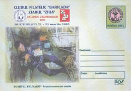 89212- DUMITRU PRUNARIU, FIRST ROMANIAN IN SPACE, COSMOS, SPACE, COVER STATIONERY, 2003, ROMANIA - Europe