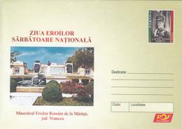 89245- MARASTI HEROES MAUSOLEUM, WW1, HISTORY, COVER STATIONERY, 2005, ROMANIA - WW1