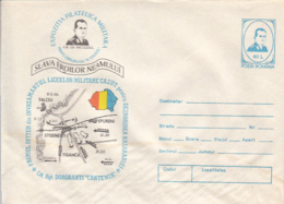 89247- FREE BESSARABIA BATTLES HEROES, WW2, HISTORY, COVER STATIONERY, 1994, ROMANIA - WW2