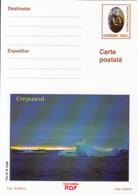 89308- TWILIGHT, ERNEST SHACKLETON, POLAR EXPLORER, POLAR PHILATELY, POSTCARD STATIONERY, 2001, ROMANIA - Polar Exploradores Y Celebridades