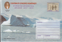 89315-EXPLORERS, EMIL RACOVITA, BELGICA ANTARCTIC EXPEDITION, POLAR PHILATELY, COVER STATIONERY, 1999, ROMANIA - Expediciones Antárticas