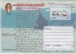 89316- EMIL RACOVITA, BELGICA ANTARCTIC EXPEDITION, POLAR PHILATELY, COVER STATIONERY, 1999, ROMANIA - Expediciones Antárticas