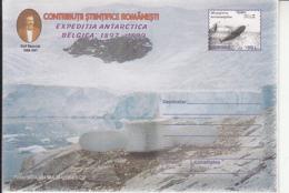 89317-WHALE, EMIL RACOVITA, BELGICA ANTARCTIC EXPEDITION, POLAR PHILATELY, COVER STATIONERY, 1999, ROMANIA - Expediciones Antárticas