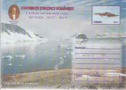 89318- FISH, EMIL RACOVITA, BELGICA ANTARCTIC EXPEDITION, POLAR PHILATELY, COVER STATIONERY, 1999, ROMANIA - Expediciones Antárticas