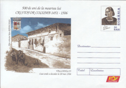 89332- HOUSE, DISCOVERY OF AMERICA, CRISTOPHER COLUMBUS, FAMOUS PEOPLE, COVER STATIONERY, 2006, ROMANIA - Christopher Columbus