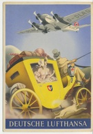 Pubblicità Deutsche Lufthansa Linee Aeree Aviazione/aeroplano/aereoplano/trasporto Aereo Junkers Ju.52 - Werbepostkarten