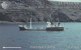 St. Helena, 5CSHD, £2, Bosum Bird, Only 2.000 Issued, 2 Scans - Sainte-Hélène