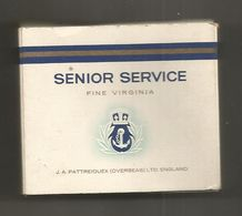 Paquet De Cigarettes,SENIOR SERVICE,fine Virginia,J.A. PATTREIOUEX (overseas) LTD. ENGLAND ,  2 Scans, Frais Fr 1.95 E - Around Cigarettes