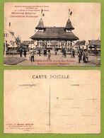 CARTE POSTALE ANCIENNE DE ROUBAIX - EXPOSITION 1911- L'ENTRÉE DU VILLAGE FLAMAND - LE PORCHE - Roubaix