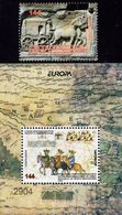 Macedonia - 2020 - Europa CEPT - Ancient Postal Routes - Mint Stamp Set + Souvenir Sheet - Mazedonien