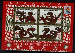 TONGA-NIUAFO`OU 2001 CHINESE NEW YEAR - YEAR OF THE SNAKE BLOCK MI No BLOCK 28 MNH VF !! - Tonga (1970-...)