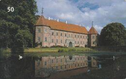 Denmark, D 078, Castles, Voergaard Slot, 2 Scans. - Danemark
