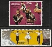 2009-ED. 4508 Y 4515-BAILES Y DANZAS POPULARES. SEGUIDILLAS Y LA SARDANA-USADO - 1931-Heute: 2. Rep. - ... Juan Carlos I