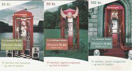 Denmark, D 055, 056 And 057,  Phonebooths, 2 Scans. - Danemark