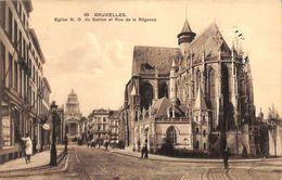 Bruxelles - Eglise N D Du Sablon Et Rue De La Régence - Bruxelles (Città)