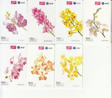 7 X Thailand Phonecard 12Call - Thailand Orchidee - Thaïland