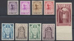 """Série Dite """"Cardinal Mercier"""" çàd N°342/350 Non Dentelé Dont Le N°350 Avec Grand BDF. Superbe Ensemble ! Rare. - Belgium"""