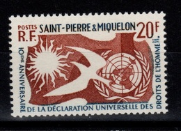 SPM - YV 358 N** Droits De L'homme Cote 4 Euros - Ongebruikt