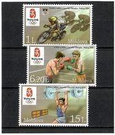 Moldova 2008 .SOG Beijing 2008. 3v: 1L, 6.20L, 15L . Michel # 608-10 - Moldavia