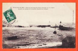 X56122 BELLE-ILE-en-MER Tempête 18 Novembre 1909 Canot Sauvetage PALAIS Secours Goélette ÉLISABETH De PAIMPOL-PETITJEAN - Belle Ile En Mer