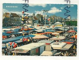 Côte Belge. Bredene. Markt En Kapellestraat. Marché Et Rue De La Chapelle. 1971 Uitgever Van Mieghem - Bredene