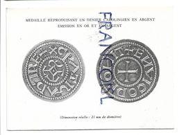 Bon De Commande De Médaille Reproduisant Un Denier Carolingien En Argent. - Belgio