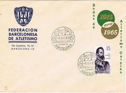 37221. Carta BARCELONA 1965. Federacion Atletismo. Expo Filatelica Deportiva - 1931-Heute: 2. Rep. - ... Juan Carlos I