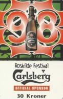 Denmark, R 014, Roskilde Festival '98 - Carlsberg, Beer, 2 Scans. - Danemark