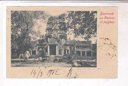 CPA CAMBODGE, SOUVENIR DES RUINES D ANGHOR En 1902 ! (voir Timbres) - Cambodge