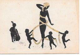 Illustrator - Manni Grosze - Silhouette, Art Deco, Nude Woman, Cupids, Femme Nue, Cupidon, Guirlande - Grosze, Manni