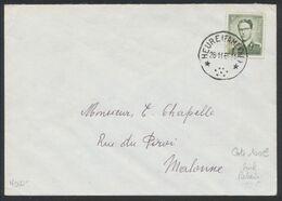 """Lunettes (Type Marchand) - N°1073 Seul Sur Lettre Obl Relais """"Heure (Famenne)"""" > Malonne. Superbe ! - 1953-1972 Glasses"""