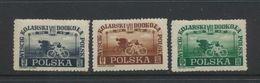Pologne 1948  Yvert 525/7 MNH XX  Tour Cycliste De Pologne - Sprint - Ungebraucht