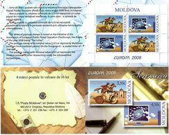Moldova 2008 .EUROPA 2008. Booklet Of 4 (2 Sets)  . Michel # 611-12 MH - Moldavia