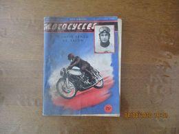 MOTOCYCLES N°44 1er NOVEMBRE 1950 COMPLET MAIS COUVERTURE EN MAUVAIS ETAT - Moto