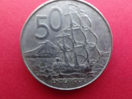 New Zealand  50 Cents  1988  Km 63 - New Zealand