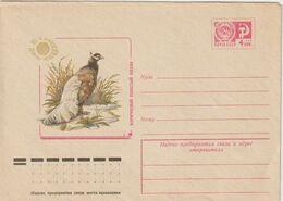 URSS. USSR. Soviet Union. Russie .Faisan Pheasant .Hokki Brun. Brown Eared Pheasant Entier.1977 - Gallinacées & Faisans