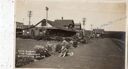 C.P.R. STATION AND RESTAURATION  BROWNVILLE JCT, ME (CARTE PHOTO ) - Etats-Unis