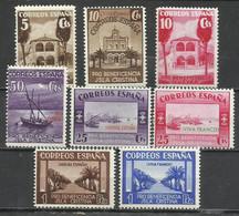 5678-SELLOS ESPAÑA 1938 GUERRA CIVIL LOCALES ISLA CRISTINA Y HUEVAR ,HUELVA Y SEVILLA BENEFICENCIA VIVA FRANCO Y ARRIBA - Emissions Nationalistes