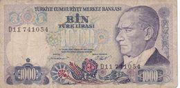 TURQUIE   Billet De 1000 Livres  1970 - Turquie