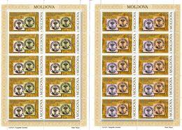 Moldova 2008 . First Stamp-150. 2 Sheetlets, Each Of 10  . Michel # 613-14 KB - Moldavia