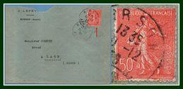 N° 199 Variété Filet Bas / L Hirson Aisne Type A4 1926 - Variétés: 1921-30 Lettres & Documents