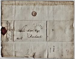 'Tatty' 1795 Solicitor's Letter Regarding Rochdale Canal Dividends. Good 'MANCHESTER' Horse-shoe Postmark.  0864 - ...-1840 Préphilatélie