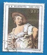 1882 ITALIA Arte Dipinto Piazzetta - Donna Indovina -  Lire 300 - Usato - 6. 1946-.. Repubblica