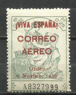2798-SELLO LOCAL  BURGOS GUERRA CIVIL FISCAL HABILITADO PARA USO EN CORREO AEREO SEGÚN ORDEN DE  1936.NUEVO ** LOCAL CIV - Nationalistische Ausgaben