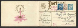 Portugal Carte Illustrée. Entier Postal  1942. Ano Novo. Nouvel An/ Nöel  Christmas. Pochoir Signé. Voir Détails. - Postal Stationery