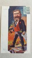 CPA CARICATURE DE JEAN JAURES PEINTURE DE SIRAT 1905 - Satirische
