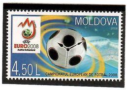 Moldova 2008 . Football EURO 2008. 1v: 4.50 L . Michel # 615 - Moldavia